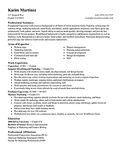 Best Copywriter Resume Example From Professional Resume