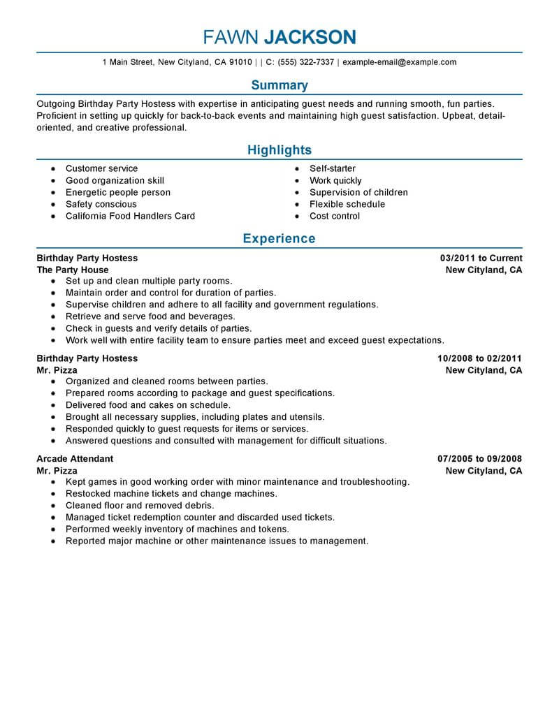 74 Outstanding Media & Entertainment Resume Examples ...