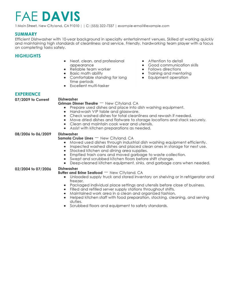74 Outstanding Media & Entertainment Resume Examples & Templates ...