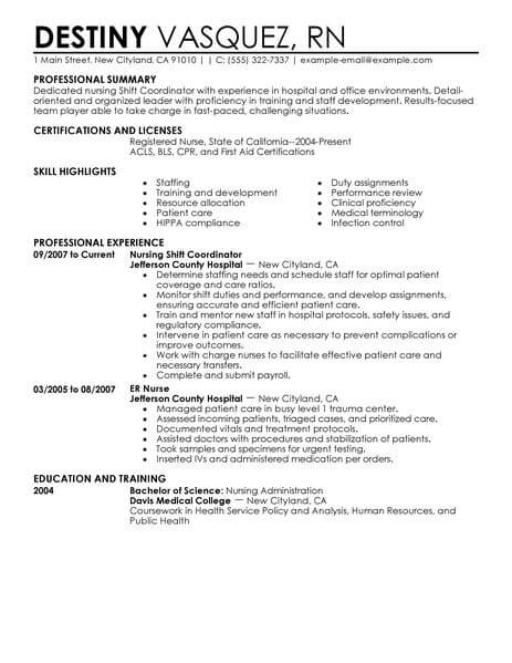 Best Shift Coordinator Resume Example From Professional Resume