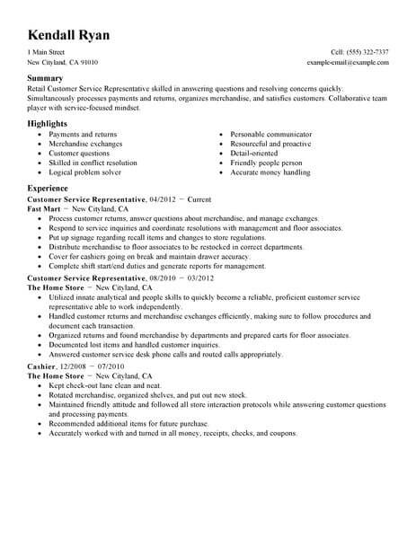 41 Outstanding Retail Resume Examples & Templates from Trust Writing ...