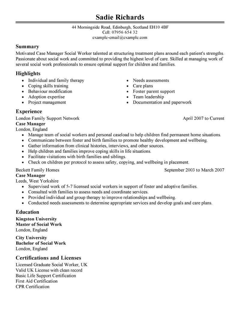 best case manager resume example from professional resume writing service