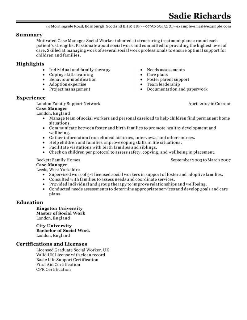 best case manager resume example from professional resume writing