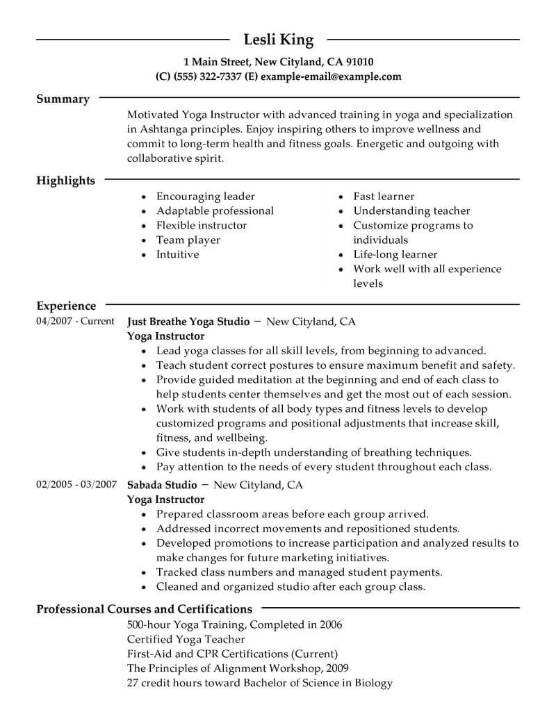 20 Outstanding Wellness Resume Examples Amp Templates From